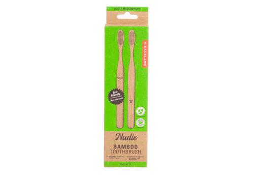 Kikkerland Kikkerland - bamboe tandenborstels - nudie