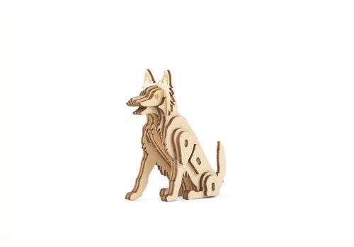 Kikkerland Kikkerland - 3d houten puzzel - hond