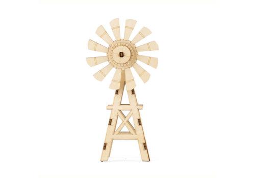 Kikkerland Kikkerland - 3d houten puzzel - windmolen
