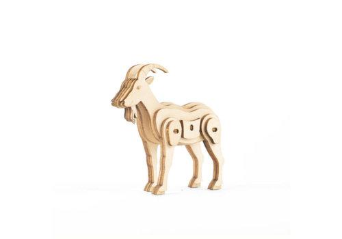 Kikkerland Kikkerland - 3d houten puzzel - geit