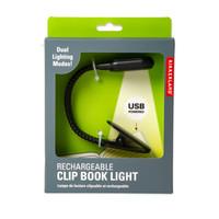 Kikkerland - rechargeable book light