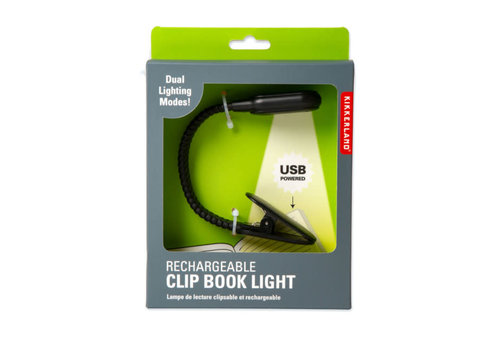 Kikkerland Kikkerland - rechargeable book light
