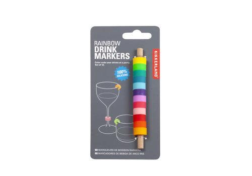 Kikkerland Kikkerland - drink markers - rainbow