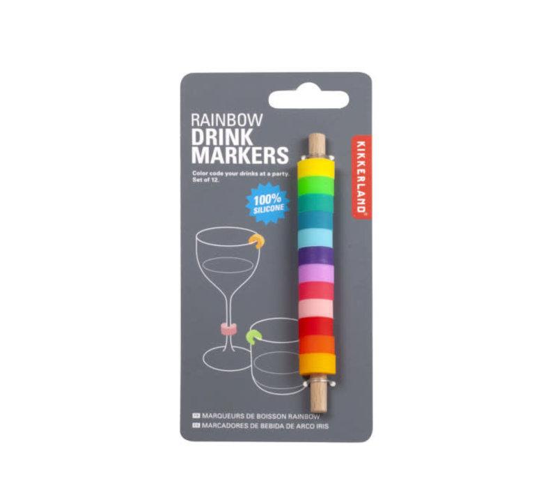 Kikkerland - drink markers - rainbow