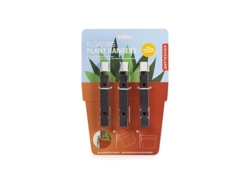 Kikkerland Kikkerland - zwevende plantenpot (set van 3)