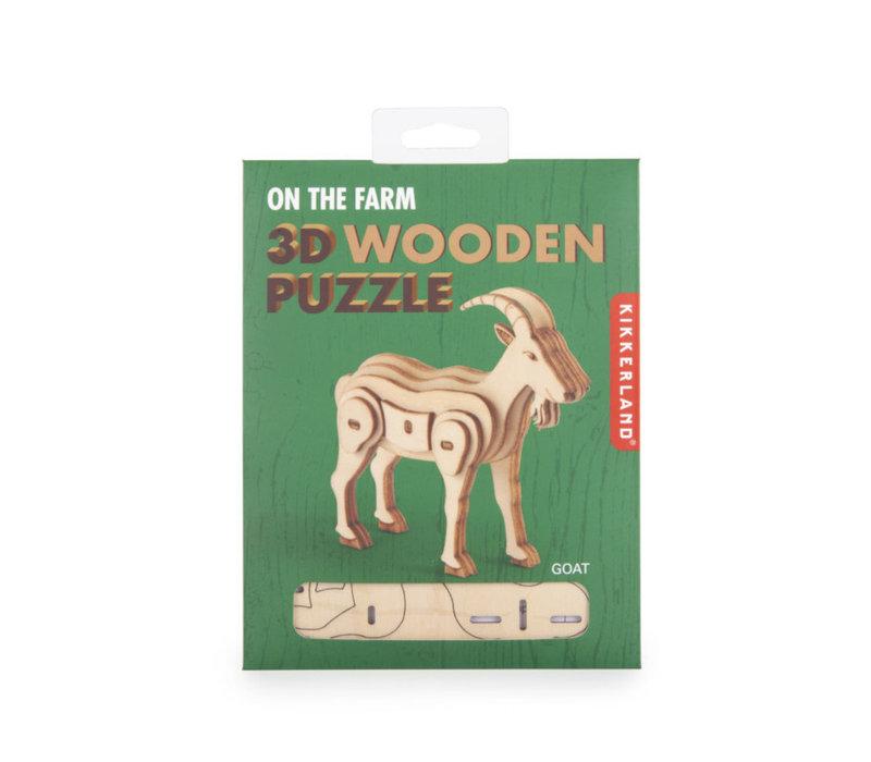 Kikkerland - 3d houten puzzel - geit