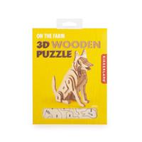 Kikkerland - 3d houten puzzel - hond