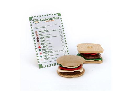 Green Toys Green Toys - hamburger set