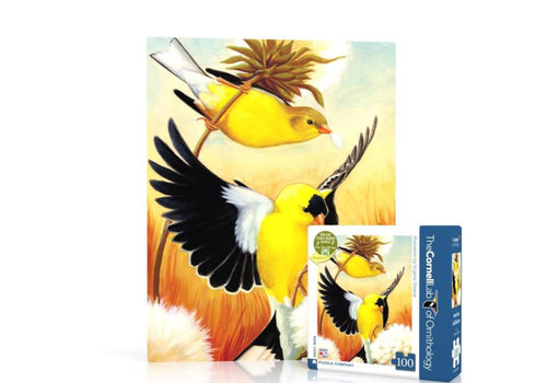 New York puzzle company New York puzzle company - american goldfinch mini (100 stukjes)