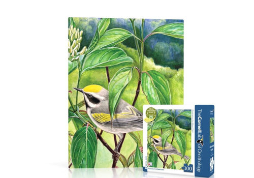 New York puzzle company New York puzzle company - golden-winged warbler (100 stukjes)