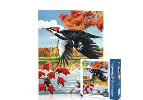 New York puzzle company New York puzzle company - pileated woodpecker mini (100 stukjes)