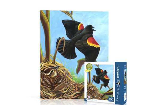 New York puzzle company New York puzzle company - red-winged blackbird mini (100 stukjes)