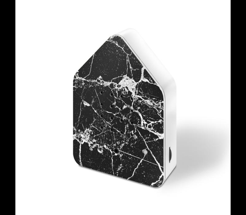 Zwitscherbox - vogelhuis relaxing - marble zwart wit