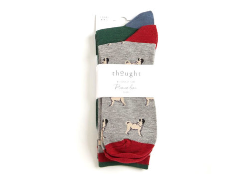 Thought Thought - bamboe sokken - pups (set van 2)