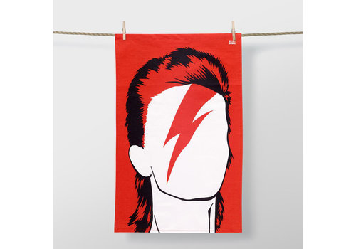 Bold & Noble Bold & noble - theedoek - david bowie (red)