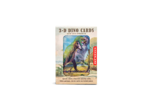 Kikkerland Kikkerland - dino 3D speelkaarten
