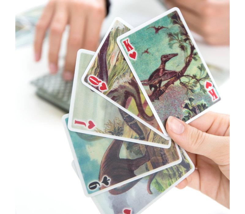 Kikkerland - dino 3D speelkaarten