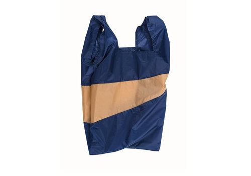 Susan Bijl Susan Bijl - shoppingbag l - navy & camel