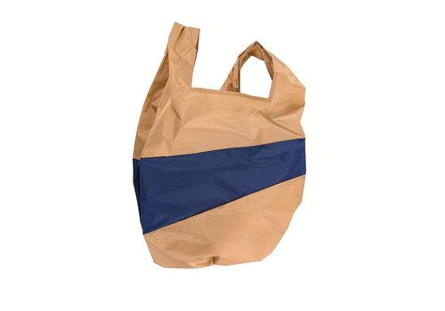 Susan Bijl Susan Bijl - shoppingbag l - camel & navy