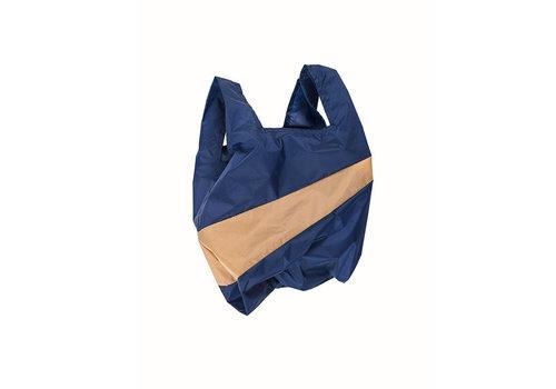 Susan Bijl Susan Bijl - shoppingbag m - navy & camel