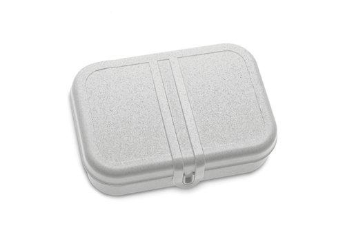 Koziol Koziol - lunchbox pascal L (met compartiment) - organic grey