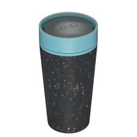RCUP - beker 340ml - zwart/blauw