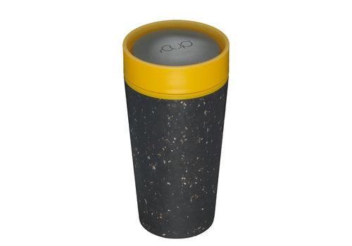 rCUP RCUP - beker 340ml - zwart/geel