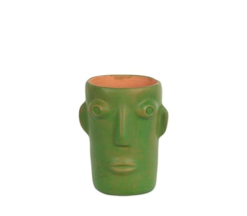 Kitsch kitchen - vaas cabeza - groen (maat s)