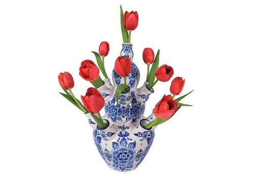 Flatflowers Flat flowers - raamsticker - i - delft tulip red