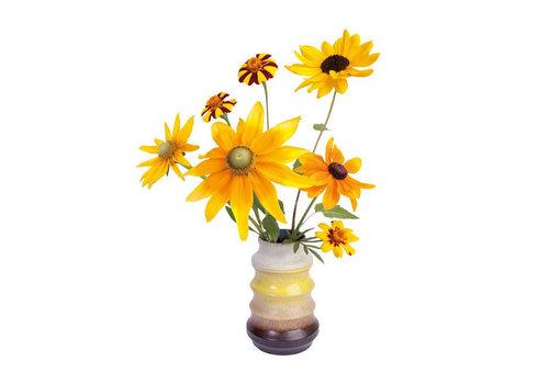 Flatflowers Flat flowers - raamsticker - r - sunflowers