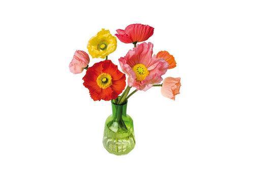 Flatflowers Flat flowers - raamsticker - p - poppy