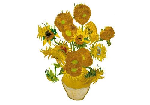 Flatflowers Flat flowers - raamsticker - k - van gogh sunflowers