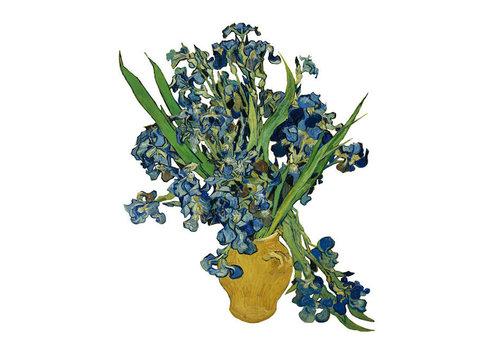 Flatflowers Flat flowers - raamsticker - j - van gogh iris