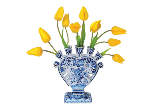 Flatflowers Flat flowers - raamsticker - h - delft tulip yellow