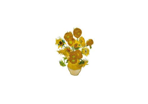 Flatflowers Flat flowers - ansichtkaart raamsticker - 017 - van gogh sunflowers