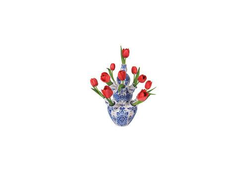 Flatflowers Flat flowers - ansichtkaart raamsticker - 015 - delft tulip red