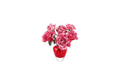 Flatflowers Flat flowers - ansichtkaart raamsticker - 013 - roses