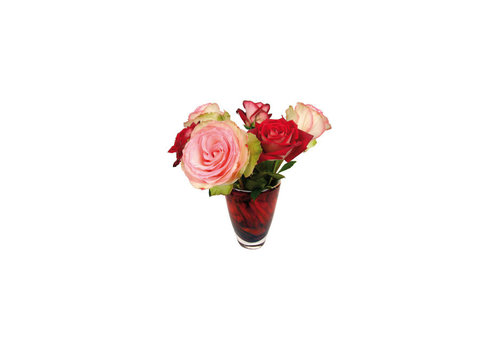 Flatflowers Flat flowers - ansichtkaart raamsticker - 007 - roses