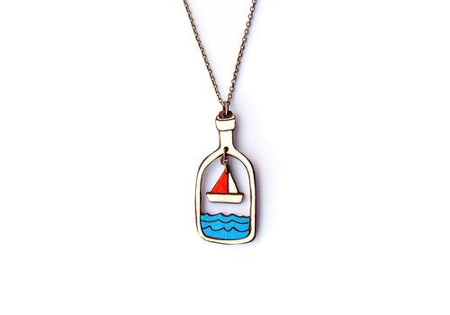 Materia Rica Materia Rica - ketting seaside - boat in a bottle