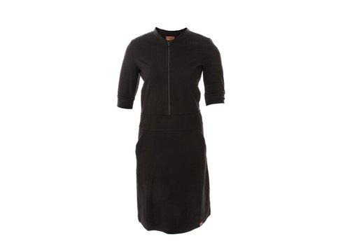 Mooi Vrolijk Mooi Vrolijk - dress zipper - basic zwart