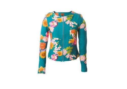 Mooi Vrolijk Mooi Vrolijk - jasje kort - blue flowers