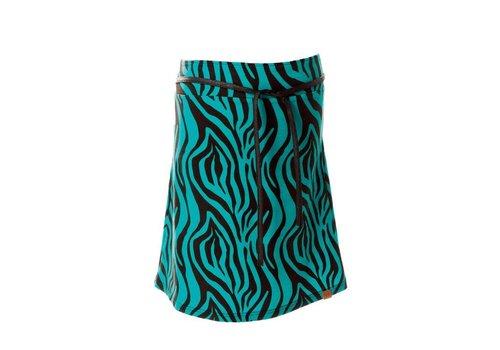 Mooi Vrolijk Mooi Vrolijk - skirt nice - black and blue zebra