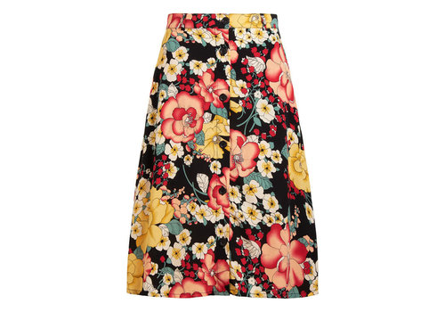 King Louie King louie - serena button skirt carioca - black