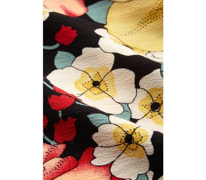 King louie - serena button skirt carioca - black
