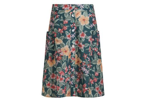 King Louie King louie - fifi button skirt st kitt - harbor blue