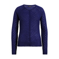 King louie - cardi roundneck fluffy - dazzling blue