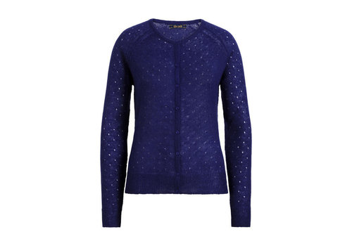 King Louie King louie - cardi roundneck fluffy - dazzling blue