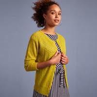 King louie - cardi roundneck fluffy - cress yellow