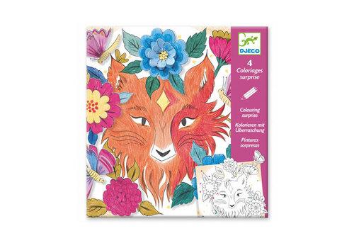 Djeco Djeco - kleurplaat met verrassing - het bos