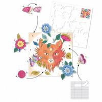 Djeco - kleurplaat met verrassing - het bos